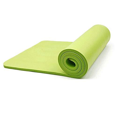 KYCD Esterilla de Yoga Antideslizante para Pilates, 15-20 mm de Grosor, protección del Medio Ambiente, para Hombres y Mujeres, Esterilla de Fitness para Principiantes, Esterilla de Yoga