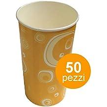 Vaso de cartón de 500 ml para beber, en color naranja vintage, abbinable a