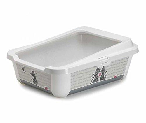 Katze groß Katzentoilette mit Rand 51x 39x 19cm 2Designs in unserem Shop Qualität Box Pfanne WC Loo (Dart Boxen Design)