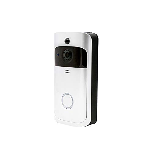 ZHEDAN Smart Home WiFi Video Doorbell,720P HD Security Camera mit 166-Punkt Weitwinkel-Angle Lens Two-Way Audio PIR Motion Detection Night Vision für iOS und Android