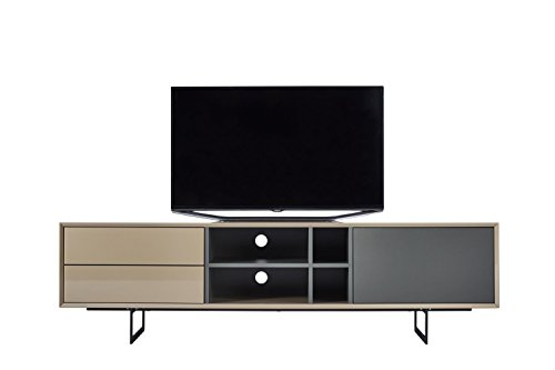 TV-Schrank TITRAN modernes TV-Lowboard in Taupe Beige hochglanz & anthrazit grau matt, mal kein weiß oder schwarz, 180 x 42 x 50 , Fernsehschrank inkl Lieferung und Montage! - 5