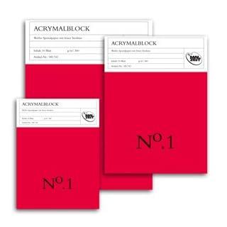 185743 - Malzeit Acrylmalblock No.1 - 30 x 40 cm - 10 Blatt - 360 g/m² - weißes Spezialpapier