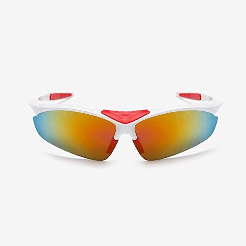 KISlink Polarisierte Sport-Sonnenbrille, Fahrradbrille für Männer und Frauen mit 6 austauschbaren Gläsern, Leichter Rahmen, UV400-Schutz, zum Laufen, Skifahren, Angeln, Fahren, Wandern, Reiten (Farb