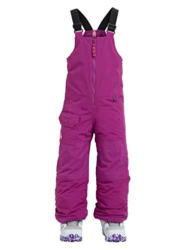 Burton Mädchen MINISHRED Maven BIB Snowboard Hose, Grapeseed, 2T (Mädchen Hose Bib)