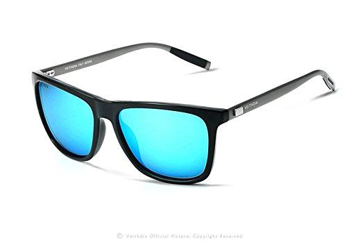 BuyWorld VEITHDIA Brand Retro Aluminum TR90 Sunglasses Unisex Polarized Lens Vintage Eyewear Accessories Sun Glasses For Men Women 6108