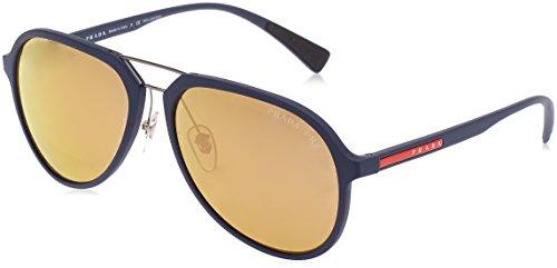 Prada Sport Herren 0PS05RS TFY5N2 58 Sonnenbrille, Blau (Bluette Rubber/Brown Goldpolar),