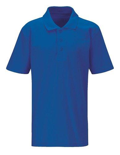 4Direct UniformsJungen Poloshirt, Einfarbig Königsblau
