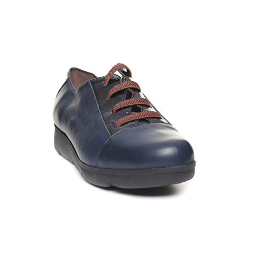 WONDERS Zapato Cordon Elastico Mujer Azul 37 a5e87afeb7d1