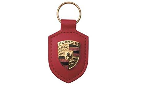 Preisvergleich Produktbild Porsche Schlüsselanhänger 'Wappen',  Echtleder,  Rot - WAP0500920E