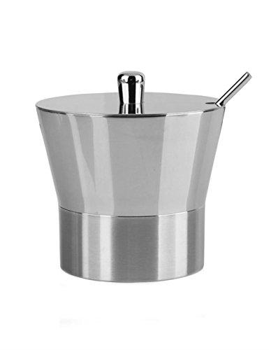 V.JUST Edelstahl-Gewürz-Glas-Soße-Topf-Salz-Shaker-Gläser sondern Zuckerdosen-Silber einzeln aus