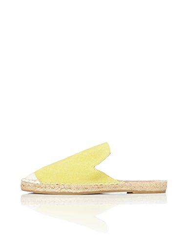 FIND Alpargata Destalonada de Ante Mujer, Amarillo (Yellow), 40 EU
