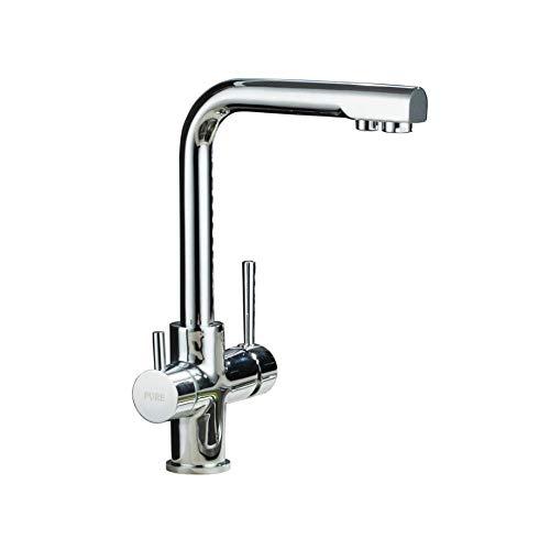 JFFFFWI Küchenspüle Gemüsewaschbecken 360 \u0026 deg; Rotary Pure Wasserhahn Filter Wasserhahn heißen und kalten Wasserhahn - Pur-wasserhahn-filter