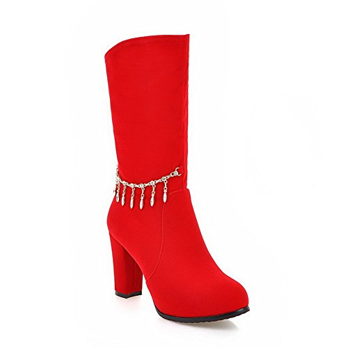 allhqfashion-womens-zipper-round-closed-toe-high-heels-imitated-suede-low-top-boots-red-35