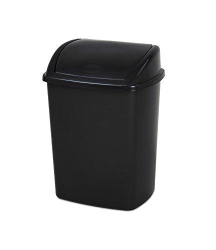 Unbekannt Abfalleimer Push Kunststoff 26L schwarz