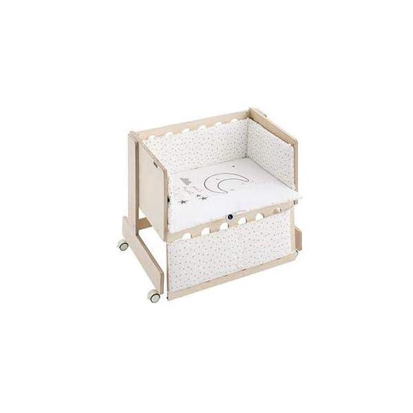 Bimbi Mini Cot Bimbi Casual baby bedroom. Cot bedroom. Natural mini bedspread 2