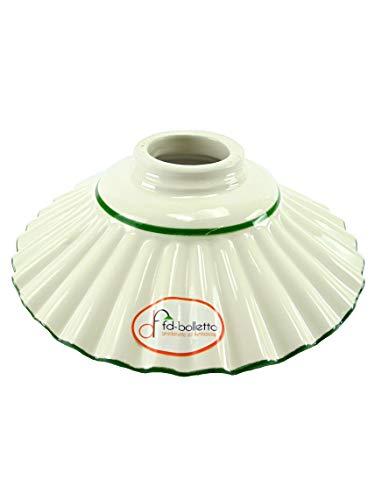 Ersatzkeramik für Lampen, Lampenschirme aus Messing, Eisen, Lampenschirm Keramik verziert grün...