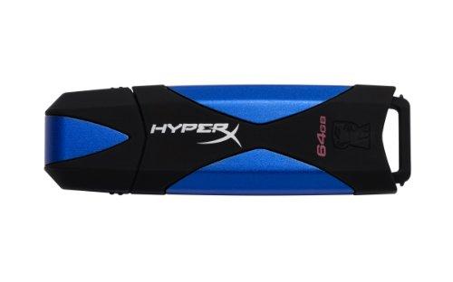 HyperX 3.0 DTHX30/64GB - Memoria USB gaming de 64 GB, Negro y azul