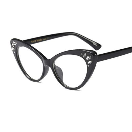 Rjjdd 2018 cat eye brillengestell frauen vintage transparent strass brillengestelle luxus klar pink nerd mode brillen oculos (Cat Eye Kontakt)