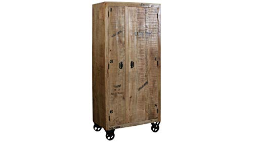 JUSTyou Simple Armoire a charnieres Manguier