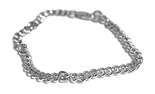 Sprezzi Fashion® Modisches Herren Ketten Armband aus massivem 925 Sterling Silber mit Karabiner Verschluss verstellbar|minimalistischer Männer Schmuck aus Deutschland