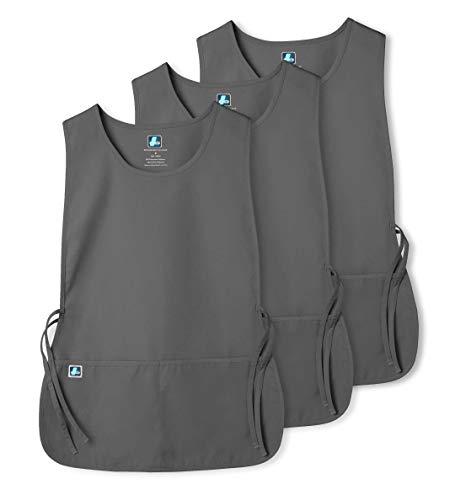 Adar Uniforms Unisex (3 Pack) Arbeitsschürze mit Taschen für Schönheit und medizinische Berufe 702 Farbe: PWR | Größe: Regular