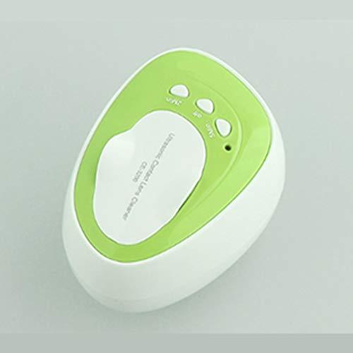 QueenYA Kontaktlinsen-Reinigungssystem, Ultraschallreiniger, Auto Reinigungs Kontakte Objektiv, bewegliche Kontaktlinsen reinigen Kit, Mini Auto Ultraschall-Kontaktlinsen reinigen,Grün