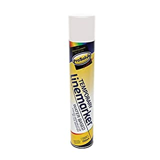 White Line Marker – Spray Paint for Football Pitch, Car Parks, Floors & Warehouses – 6 x 750ml