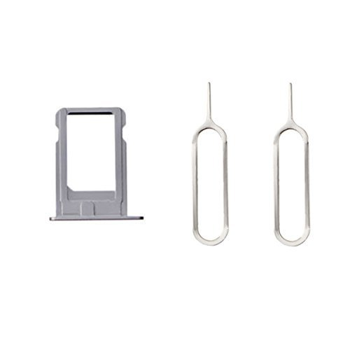 XcellentFixParts Scheda SIM Supporto Supporto per scheda SIM per iPhone 5 (Argento) + 2 Adattatore per scheda SIM Nano e SIM Eject