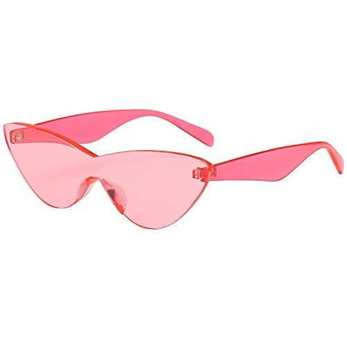 (kolila Damen Herren Vintage Brillen Sonnenbrillen Verkauf Ausverkauf Mode Transparente Frameless Solid Color Unisex Brille Gläser)