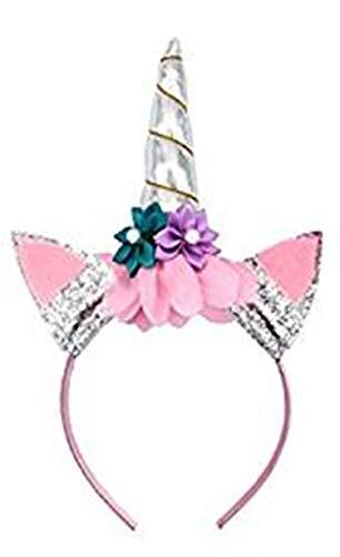 Piccoli monelli cerchietto unicorno bambina rosa argento per party feste compleanno carnevale