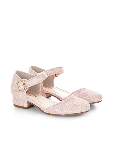 Monsoon Children Chaussures plates en deux parties en relief vintage - Fille Rose