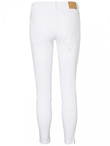Vero Moda Damen Jeans VMSEVEN NW SS ZIP ANKLE WHITE VI609 - Skinny Fit - Weiß - White Bright White