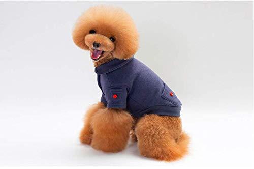 PZSSXDZW Herbst und Winter Pet Kleidung Teddy VIP Hund Pullover Haustierbekleidung Hundebekleidung Blue Small (Hai-hund Pullover)