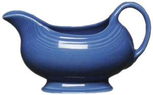 Fiesta Sauce/Gravy Boat, 18-1/2-Ounce, Lapis by Homer Laughlin