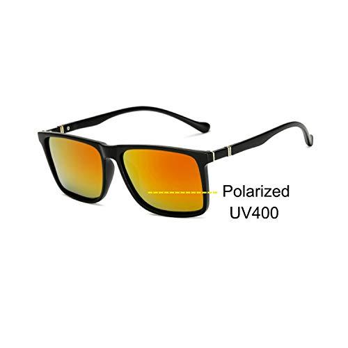 Sport-Sonnenbrillen, Vintage Sonnenbrillen, Männer's Sunglasses Male Driving HD Polarized Sun Glasses Outdoor Sports Anti-Glare Safety Glasses Luxury Brand Designer Oculos sand red