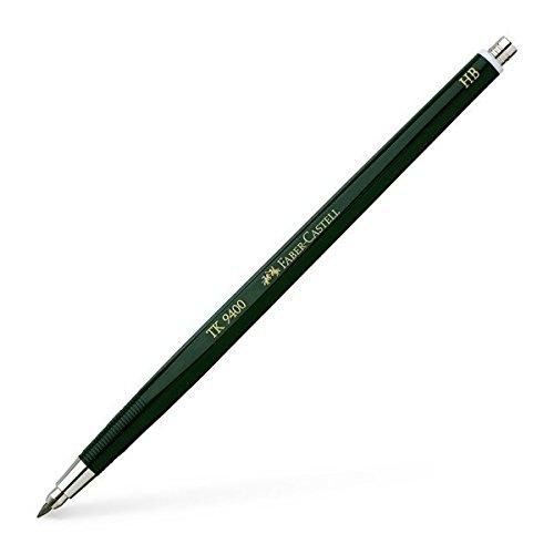 Faber-Castell 139400 - Fallminenstift TK 9400, Minenstärke: 2 mm, Härtegrad: HB, Schaftfarbe: grün (Faber Castell Radierer Tk)