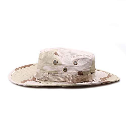 Gajaous Damen Herren Camo Sonnenhut breiter Krempe Boonie Hut Outdoor Sports Wandern Cap Sommer Angeln Safari Bucket String Hut -