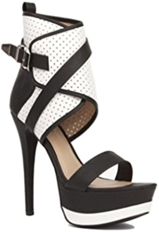 Femmes Dames Haut Talon  s Bottes Chaussures Peep Mode Toe Mode Peep Strappy Crossover Parti De Mariage De Bal Taille...B07BJ4R6D8Parent 04febc