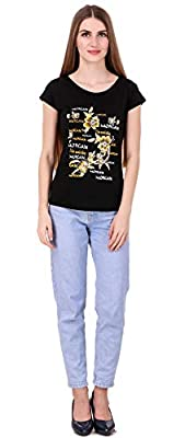 NIVIK Women's Round Neck Summer wear Printed Cotton t-Shirts Combo of 4 t-Shirts...