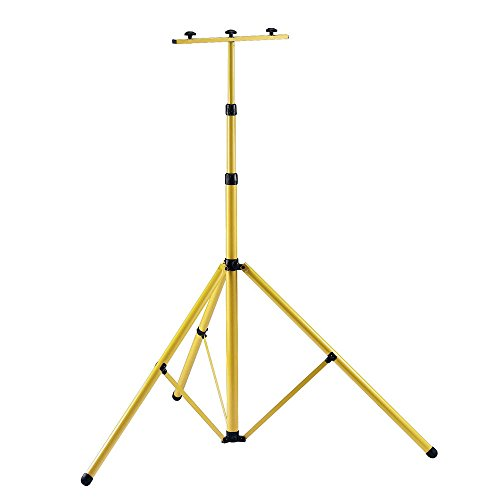 MCTECH® 150cm Gelb Teleskop Stativ Strahler Flutlicht Ständer Stahlstativ für Baustrahler LED Fluter