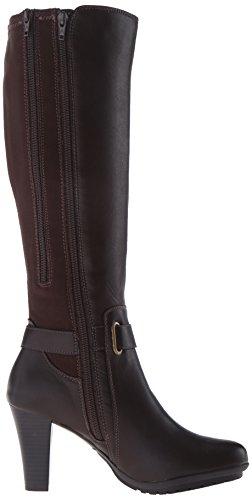 Aerosoles Ornament Rund Kunstleder Mode-Knie hoch Stiefel Brown