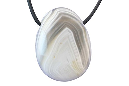 Pendentif agate naturelle (pierre trouée)