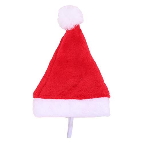 MachinYesity Cane Vacanza Cappello di Natale Cucciolo di Cane Cappello di Babbo Natale Costume Collezione Natalizia Accessorio per Gatto con Coniglio Criceto Guinea Pig Rosso