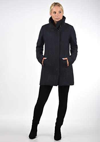 DESIRES Wolke Damen Winter Jacke Mantel Wollmantel Winterjacke mit Stehkragen, Größe:XS, Farbe:Insignia Blue Melange (8991) - 2