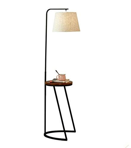 Home mall- Eisen Stehlampe | American Country Retro Style Stehleuchte mit Holzschale | für Wohnzimmer Schlafzimmer Arbeitszimmer (Farbe : Color#1) -