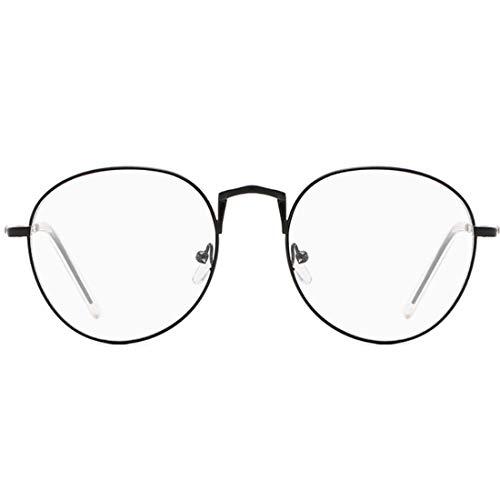 XiaoGaO Retro Metallrahmen Super Light Circle Frame Für Männer Und Frauen Mit Kurzsichtigen Brillengestell,Black