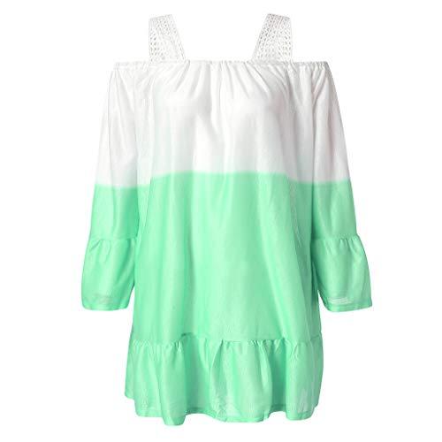 PorLous Bluse, 2019 Weiblich Frühling Sommer Kleidung Mode Frauen Damen Sommer Kurzarm Gradient Lässige Tops T-Shirt Lose Top Bluse Bequem.