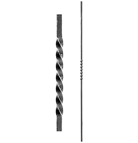 Zierstab glatt mit 1 Drill mittig 12 x 12 x 1000 mm Drilllänge 180 mm Schmiedeeisen