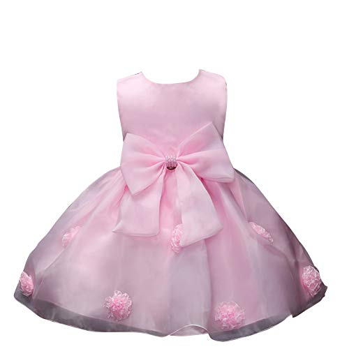 (Yiqi Cocktailkleid Kinder,Maedchen Prinzessin Party Kleid Pink 80)
