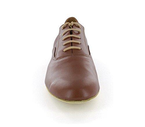 F&M Fashion ,  Herren Tanzschuhe Marrón - marrón